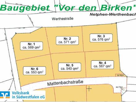 Baugrundstücke in sonniger, ruhiger Lage von Netphen-Werthenbach
