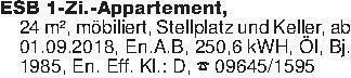 ESB 1-Zi.-Appartement,24 m², m...