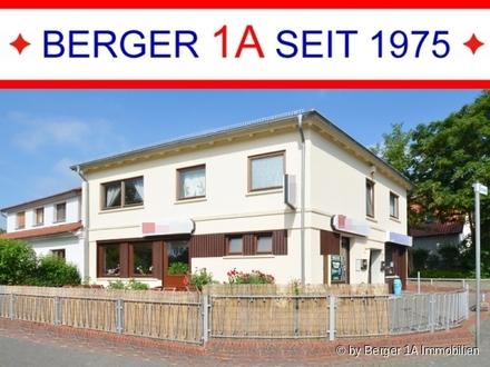 BREMEN-LESUM: VOLL VERPACHTETES Wohn- u. Geschäftshaus mit VOLLKELLER, 2 GARAGEN, Balkon, Terrasse
