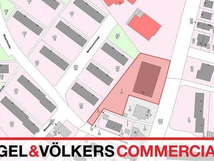 Grundstück mit Verkaufshalle für Projektentwickler
