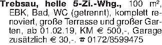 Trebsau, helle 5-Zi.-Whg., 100...