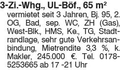 Schöne 3 Zi. Whg., Ul Böfingen
