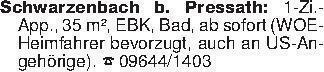 Schwarzenbach b. Pressath: 1-Z...