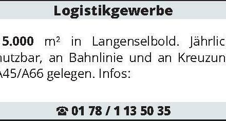 Logistikgewerbe 15.000 m²