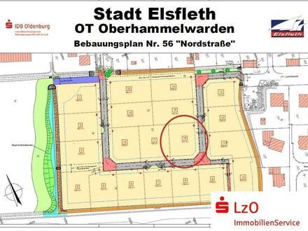 Baugrundstück in der Nordstraße in Oberhammelwarden