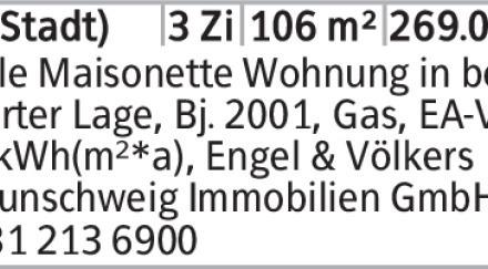 Helle Maisonette Wohnung in be- gehrter Lage, Bj. 2001, Gas, EA-V, 84 kWh(m²*a),...