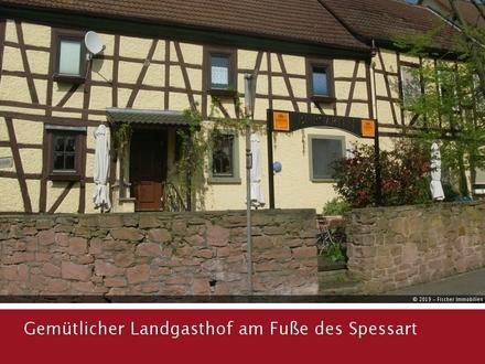 Gemütlicher Landgasthof mit Fremdenzimmern, Biergarten und Wirtswohnung