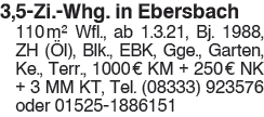 3,5 Zi. Whg. in Ebersbach