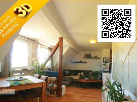 Gemütliche 2-Zimmer Dachgeschosswohnung mit Garten und Stellplatz !