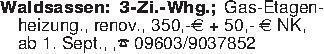 Waldsassen: 3-Zi.-Whg.; Gas-Et...