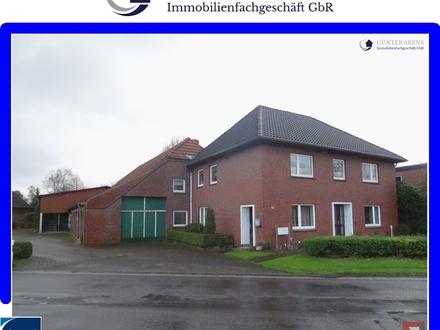 Zweifamilienhaus mit 6 Garagen und Nebenräumen in Westerstede - Linswege