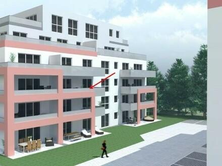 Erstbezug mit Süd-West-Balkon: ansprechende 2-Zimmer-Wohnung in Waldkraiburg