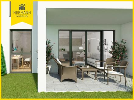 Quadratisch, praktisch, gut - kompakte Wohnung mit schönem Garten