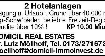 2 Hotelanlagen