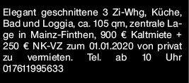 3-Zimmer Mietwohnung in Mainz (55126)
