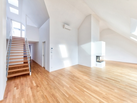 STADTLEBEN DELUXE MIT AUSBLICK: Atmosphärische Dachterrassenwohnung