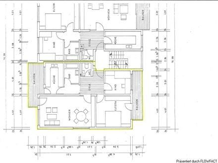 3-Zi.-Wohnung mit 2 Balkonen und Blick ins Grüne