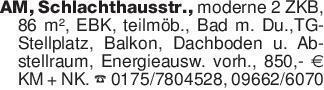 AM, Schlachthausstr., moderne...