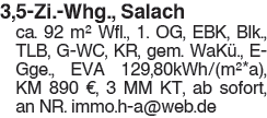 3,5 Zi. Whg., Salach