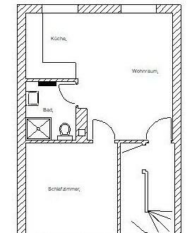 2-Zimmer Apartment, Duschbad und Küche in ruhiger Lage in Bickendorf