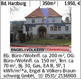 Bd. Harzburg 350m² 1.950,-€ EG: Büro-/Wohnfl. ca. 200 m², OG: Büro-/Wohnfl....