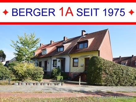ATTR. 1-FAM.-REIHENHAUS an PRIVATWEG mit hinterer ZUWEGUNG, VK, 5 Zi. inkl. Dachstudio, mod. D-Bad