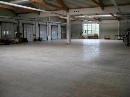 TOP Logistik-Halle ca. 3500 m² teilw. (LKW durchfahrbar) Rampen