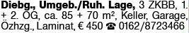 3-Zimmer Mietwohnung in Dieburg (64823)