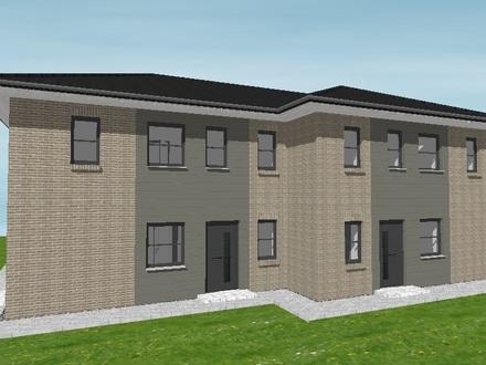 Schlüsselfertige Doppelhaushälften mit viel Platz! Neubau