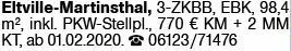 3-Zimmer Mietwohnung in Eltville-Martinthal (65344)