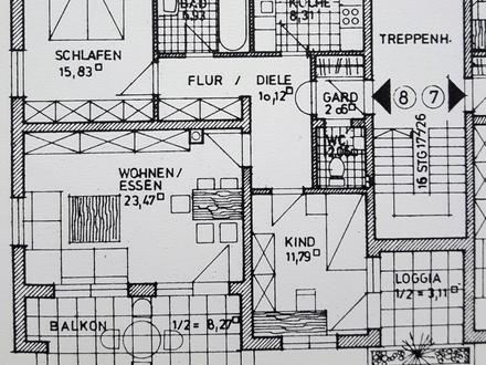 3 ZKB ca. 90 m² sofort 735,- 150,- Meitingen, helle, gut geschnittene Whg...