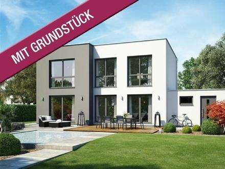 Atemberaubende Architektur - massives Bauhaus (inkl. Grundstück & Kauf-/Baunebenkosten)