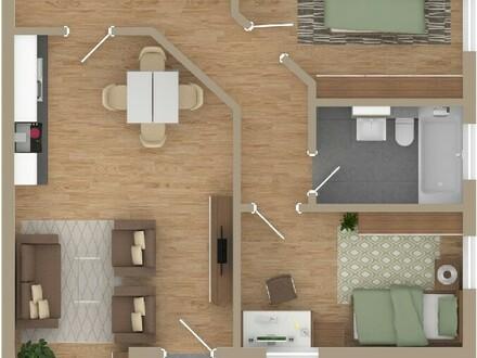 Grüner Wohnen in Altenbuch * 3-Zimmer-NEUBAU-Wohnung im Obergeschoss *