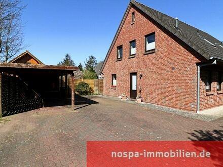 Doppelhaus mit 2 Terrassen, 2 Carports und neuen Heizungen unweit der Nordsee in Wobbenbüll