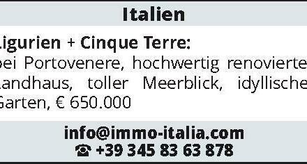 Italien Ligurien + Cinque