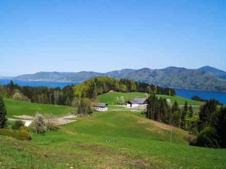 Attersee: Traum-Grundstück mit See- & Bergblick!