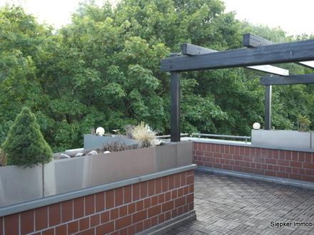 Maisonette-Wohnung in Okerlage mit großer, sonniger Dachterrasse, Wintergarten und Tiefgaragenplatz