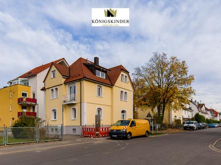 Wahre Rarität! Stilvolle Stadtvilla mit Gewerbeeinheit und Maisonette in zentraler Lage