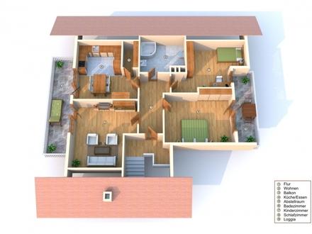 Moderne gepflegte Dreizimmerwohnung mit Südbalkon