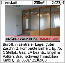Innenstadt 238m² 2.023,-€ Bürofl. in zentraler Lage, guter Zuschnitt,...