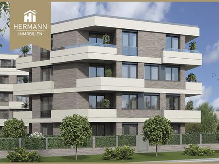 Neubau Erstbezug! 4-Zi.-Whg. mit 2 Balkonen im 1. OG in Frankfurt