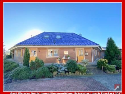 Schönes Einfamilienhaus in Holzblockbauweise mit Einliegerwohnung in Geeste nähe Speicherbecken