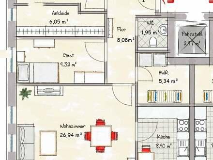 Haus 2 - jetzt die letzte Wohnung im Erdgeschoss sichern