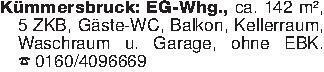 Kümmersbruck: EG-Whg., ca. 142...