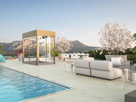 Luxus am Mondsee! Villa mit Rooftop-Pool und spektakulären Aussichten