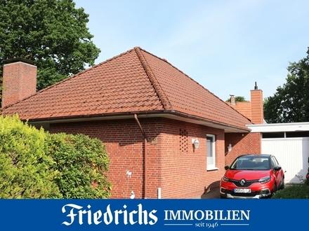 Walmdach-Bungalow mit Garage und pflegeleichtem Garten in Bad Zwischenahn - zentrale Wohnlage