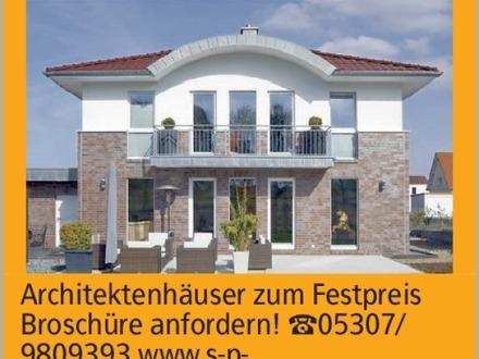 Anzeigentitel Architektenhäuser zum Festpreis Broschüre anfordern! [S:A]05307/...