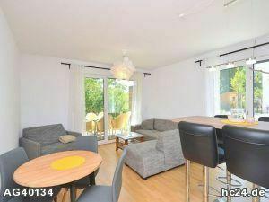 Schöne, möblierte Neubauwohnung mit 2 Schlafzimmern, Terrasse, WLAN und Stellplatz