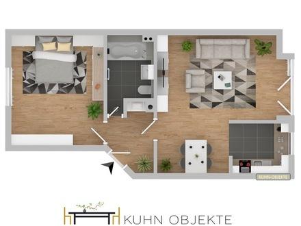 Helle 2 Zimmer Wohnung mit Garage