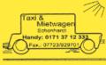 Taxi Schonhardt